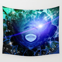 inside out,abstract art,mixed media Wall Tapestry by Healinglove Art Products