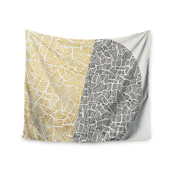 "Pom Graphic Design ""Inca Day & Night"" Gold Black Wall Tapestry"