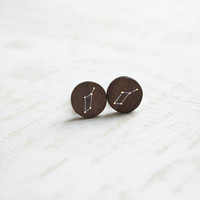 Lyra RESERVED - Constellations cufflinks - Men cufflinks - Stars - Space - Cuff links - Wooden cufflinks