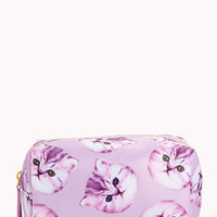 Small Cat Print Cosmetic Bag