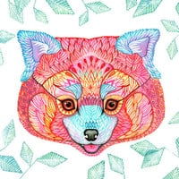 red panda// SALE 3 for 2 // animal art print, pet illustration, size 10x8 (No. 54)