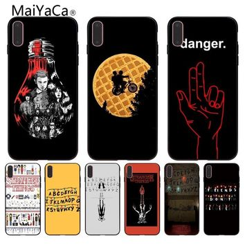 MaiYaCa Stranger Things wallpaper Coque Shell Phone Case  for Apple iPhone 8 7 6 6S Plus X 5 5S SE XR Mobile Cover