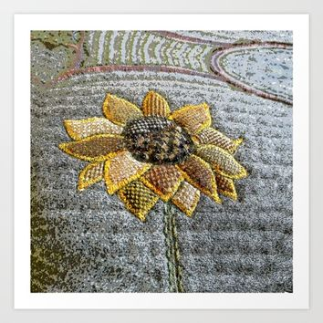 Sunflower Art Print by Bozena Wojtaszek