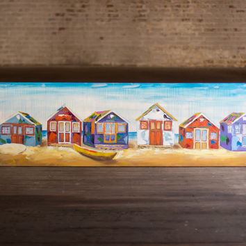 Oil Painting- Beach Houses