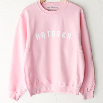 HRTBRKR Oversized Sweater - Pink