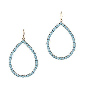EMILIA HOOPS IN TURQUOISE