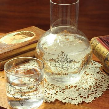 GOLDEN SLUMBER BEDSIDE DECANTER - Bedside Water Carafe & Glass