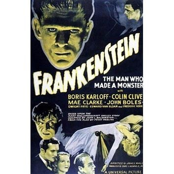 Frankenstein the Man Who Made a Monster Movie Poster