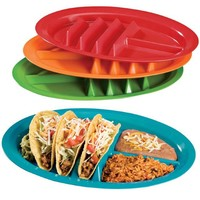Fiesta Taco Plates, Set of 4 by WalterDrake