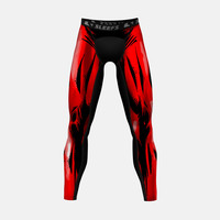 Comic book Red compression tights / leggings