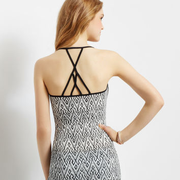 Diamond Crisscross Strap V-Neck Cami