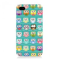 Ecell Head Case Designs Assorted Owls Case for iPhone 4/4S - Kawaii Green