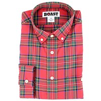 Plaid Button Down Shirt in Traditional Red by Boast - FINAL SALE