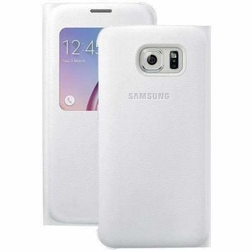 Samsung Samsung Galaxy S 6 S-view Flip Cover (white Pearl) (pack of 1 Ea)