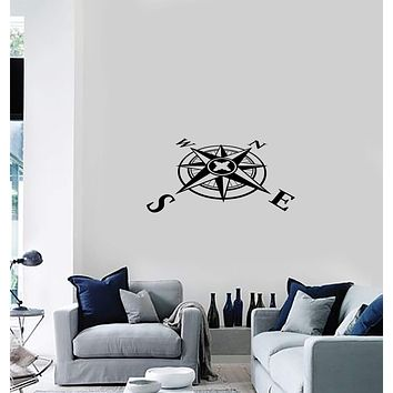 Vinyl Decal Wall Sticker Mariner Compass Nautical Unique Gift Home Decor (g062)