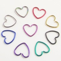 Heart Earrings. Tragus, Daith, Helix, Cartilage, Lobe