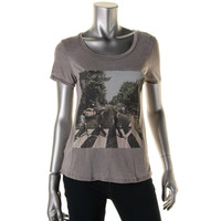 The Beatles Womens Juniors Short Sleeves Graphic Pullover Top
