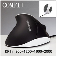6D 1600-2000DPI wired vertical mouse COMF+ Superior Ergonomic Design mice optical usb health mouse for Alleviate Wrist Fatigue