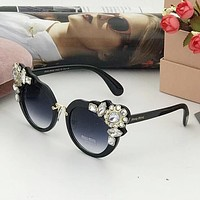 Miu Miu Stylish Ladies Summer Sun Shades Eyeglasses Glasses Sunglasses Black I-A-SDYJ