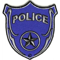 Iron on Police Shield Patch