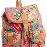 Steve Madden Beaded Canvas Backpack