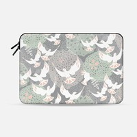 doves and flowers Macbook Pro 13 sleeve by Sharon Turner | Casetify