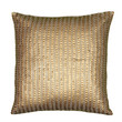 """Applique of Sequins Gold Pillow Cover (18"""" x 18"""")"""
