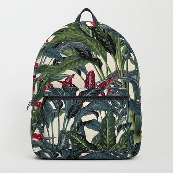 Tropical Garden II Backpack by burcukorkmazyurek