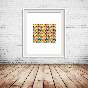 Colorful Geometric Printable Art, colorful wall art, wall decor, gallery wall decoration, home decoration
