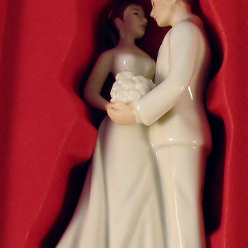 Annual Porcelain Always and Forever Bride and Groom Ornament by Lenox