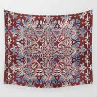 Geometry In Bloom Wall Tapestry by Octavia Soldani | Society6
