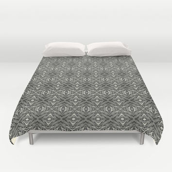 Black And White Abstract Duvet Cover by KCavender Designs