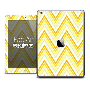 The Sharp Yellow Chevron Pattern Skin for the iPad Air
