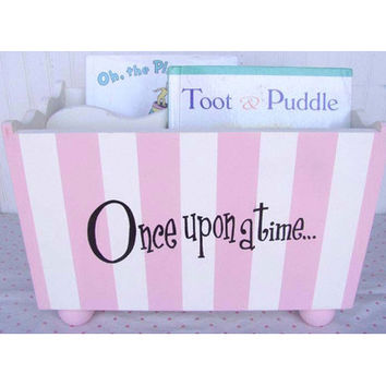 "New Arrivals ""Once Upon a Time"" Pink Stripe Hand Painted Book Holder"