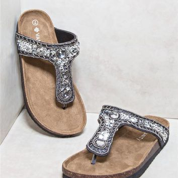 Sequin Seed Bead Sandals