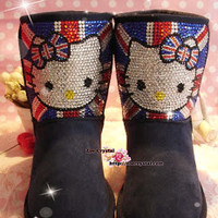 WINTER UGG Inspire Sheepskin Wool Boots HELLO KITTY - ZoeCrystal