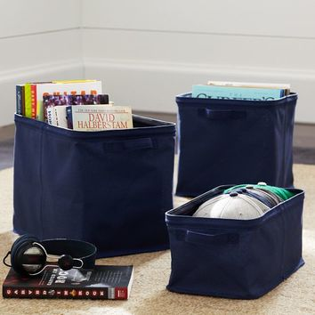 Navy Store-it Canvas Bin Collection
