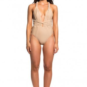 CAMILLA SWIMSUIT/BODYSUIT - NUDE - SCK by Sofia Kapiris