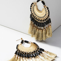 Daria Fringed Drop Earrings