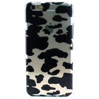 Clear Black Cow Spots Animal iPhone 6 Plus case