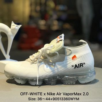 Virgil Abloh OFF-WHITE x Nike Air VaporMax 2.0 Sports Running Shoes Sneaker