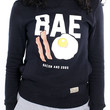 Bacon and Eggs Black Womens Crewneck