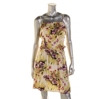 Ruby Rocks Womens Floral Print Ruffled Sundress