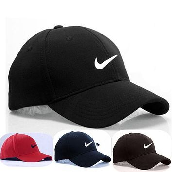 Nike Women Men Embroidery Sports Sun Cotton Hat Baseball Cap Hat I