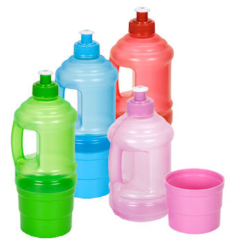 Bulk Plastic Water Bottles with Pull-Top Spouts and Snack Storage at DollarTree.com