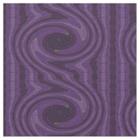 Circular Purple Black Fabric