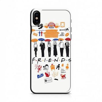 FRIENDS Collage Drawing iPhone X Case