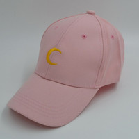 Pink Moon Canvas Baseball Cap For Women Men Lover Hat-72