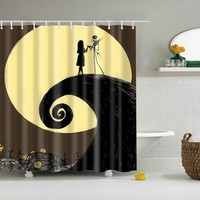 Nightmare Before Christmas Castle Ghost Shower Curtain