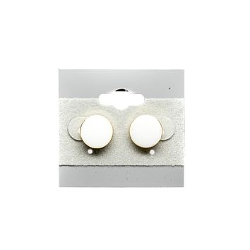Round Button Stud Fashion Earrings